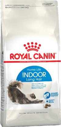 Корм Royal Canin Indoor Long Hair, для домашних длинношерстных кошек